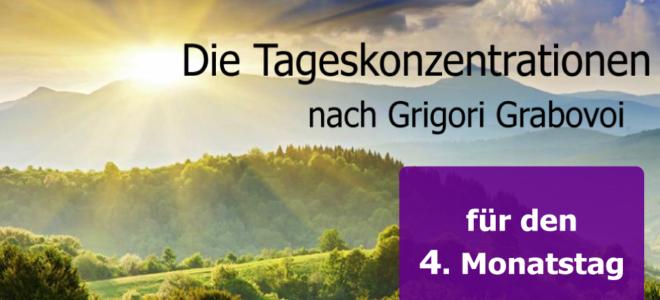 Die Tageskonzentrationen nach Grigori Grabovoi- Der 4.Monatstag